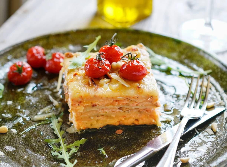 Lasagne al salmone van Mario Uva