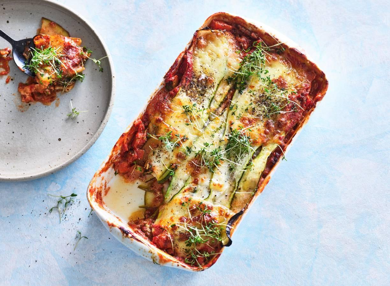 Courgettelasagne met gehakt & tomatensaus