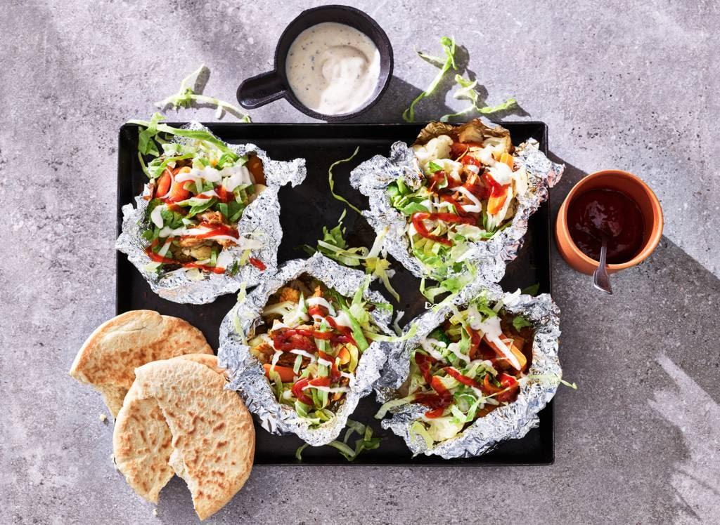 Shoarma-groentepakketjes met pitabrood