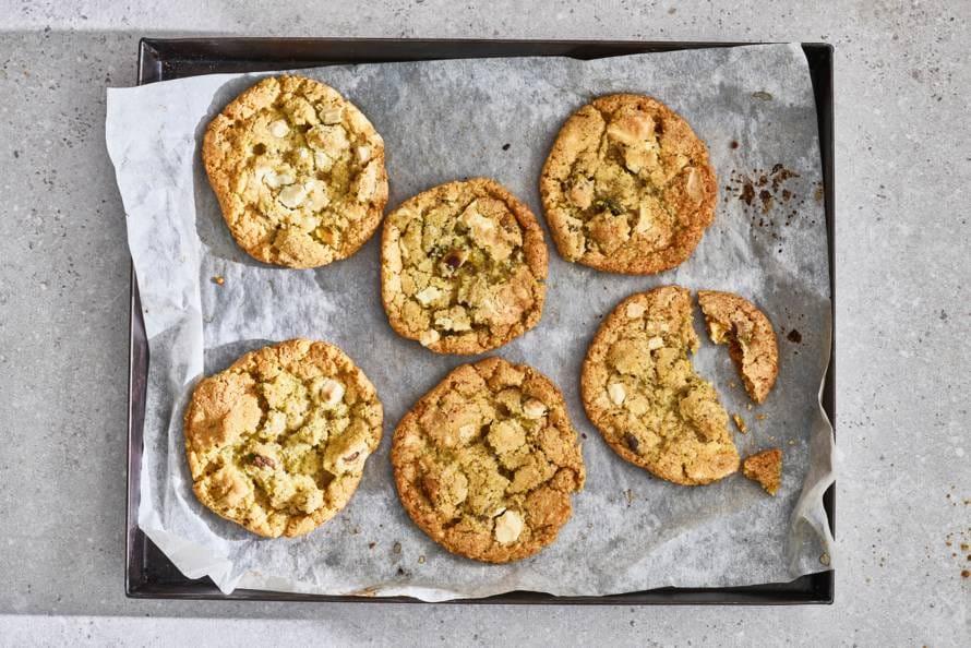 Koekjes met witte chocola en pistache van Nigella Lawson