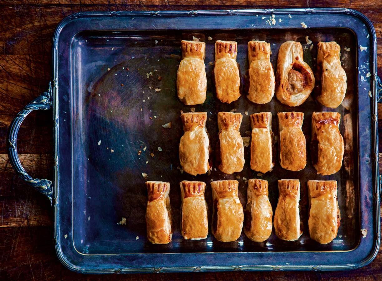 Mini-saucijzenbroodjes met kip
