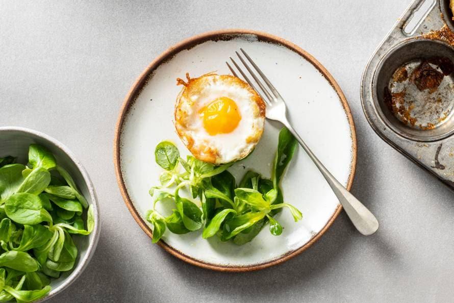 Röstibakje met spek en ei