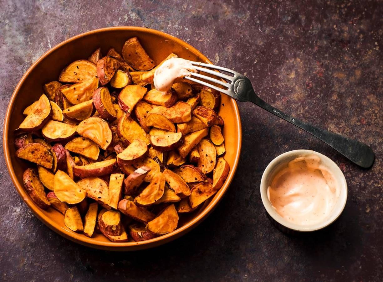 Zoete aardappel uit de airfryer