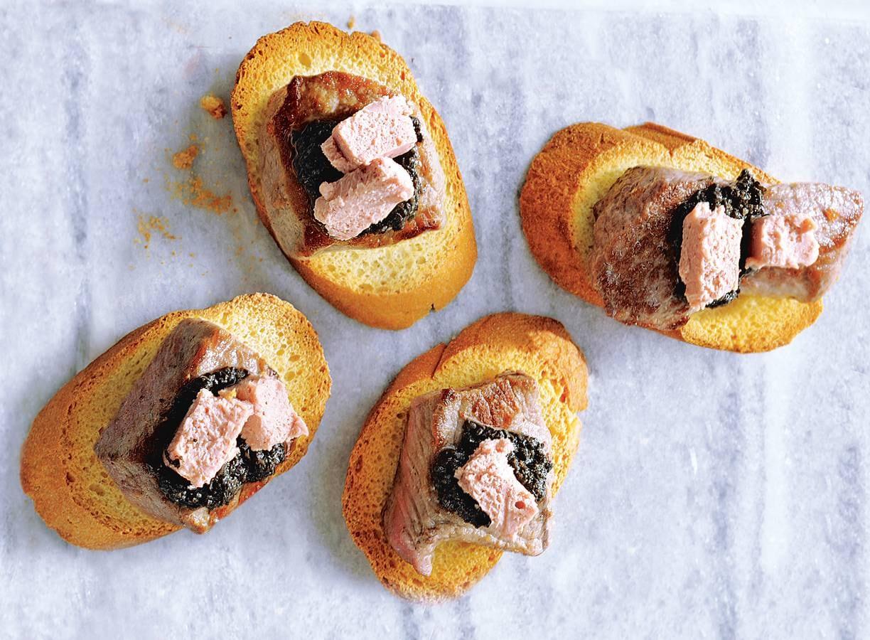 Mini biefstuk rossini
