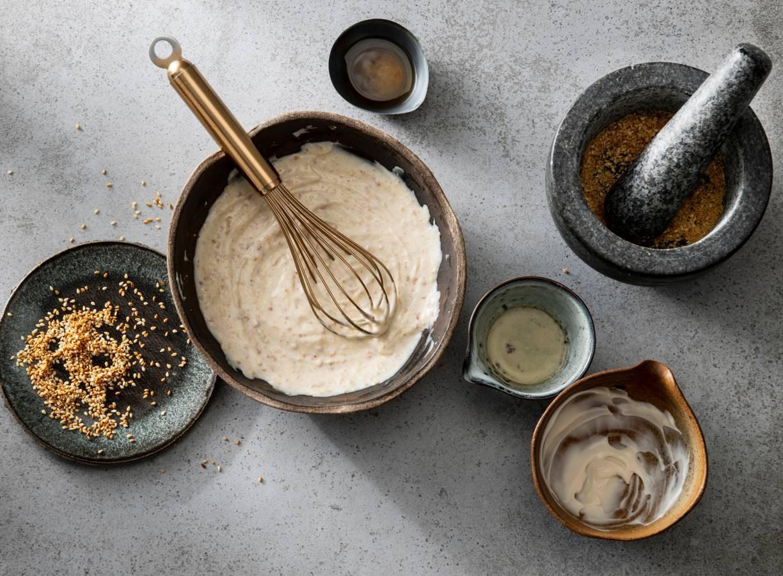 Poké bowl dressing sesam-soja