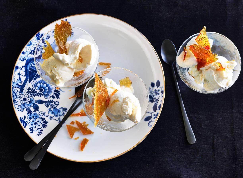 Crème brûlée ijs