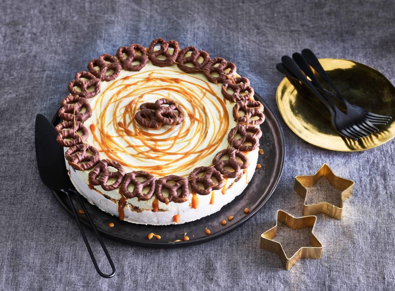 Choco-pretzel-ijstaart