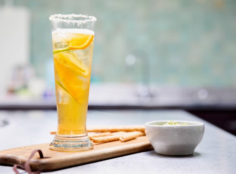 Biermocktail met citrus