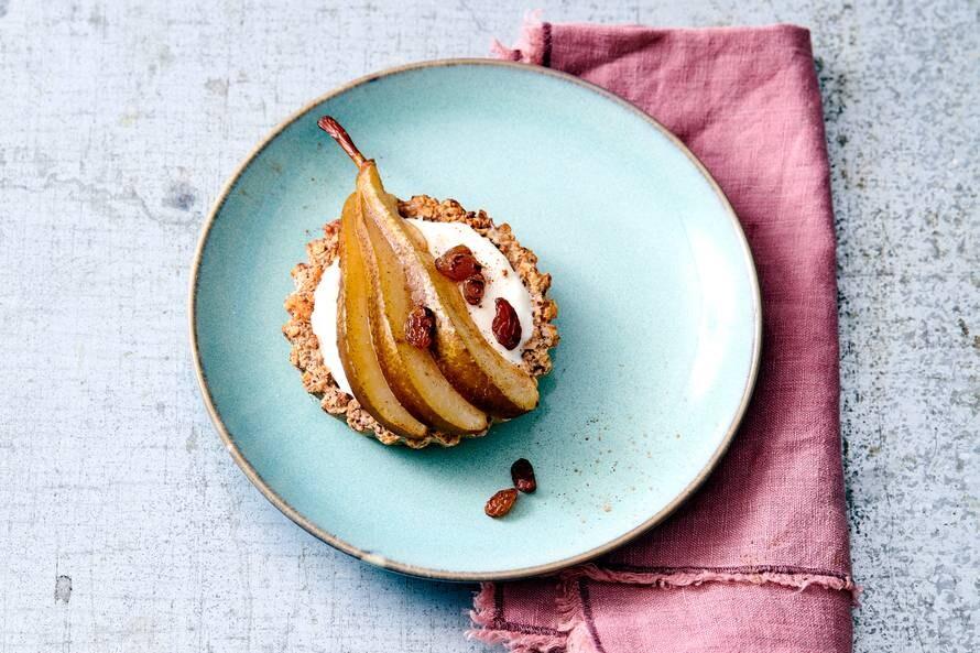 Ontbijttaartjes met peer en kaneel