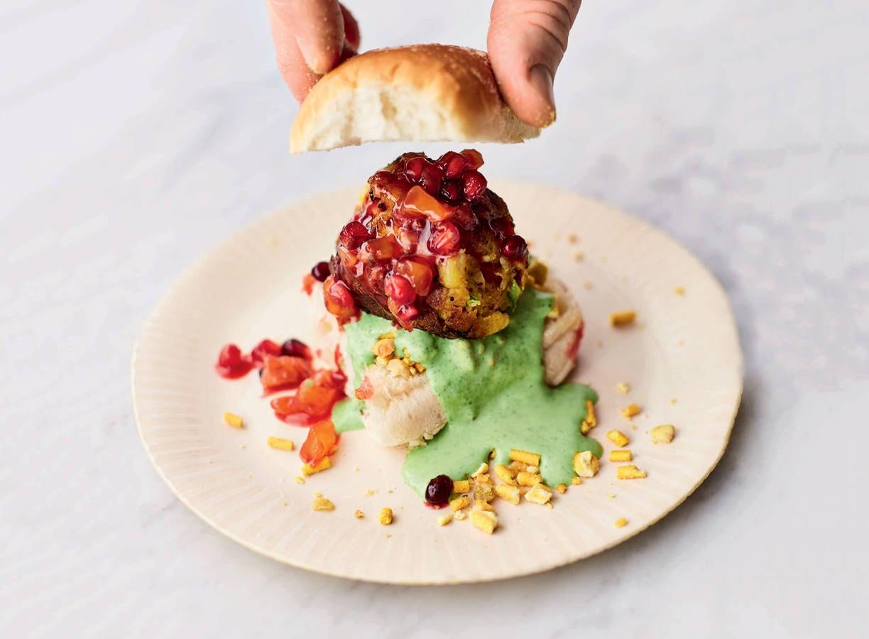 Indiase aardappelburger van Jamie Oliver