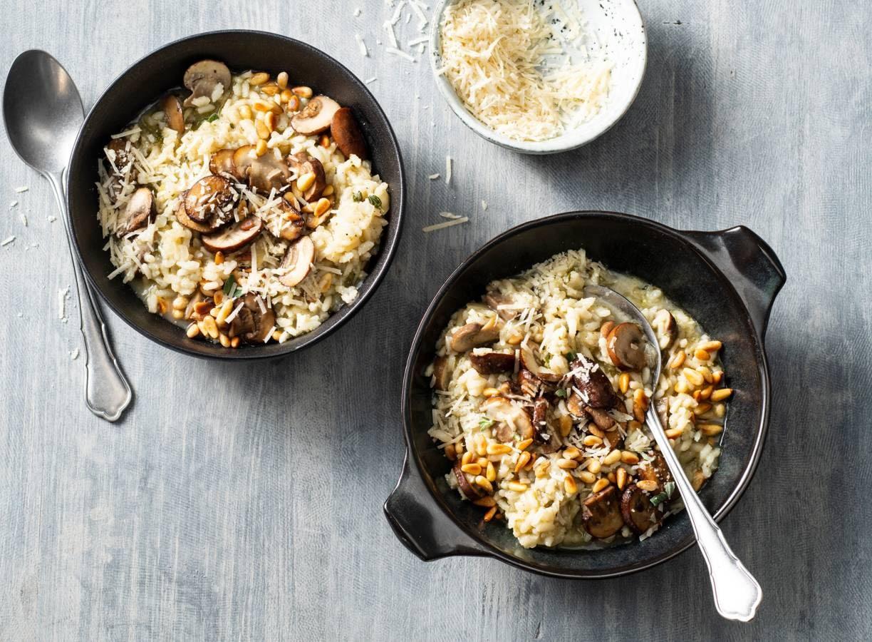 Risotto met champignons en witte wijn