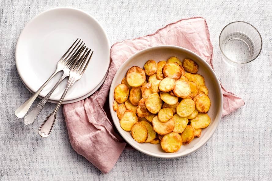 Aardappelschijfjes uit de airfryer