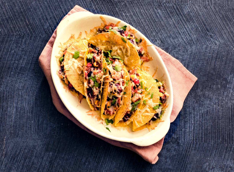 Mexicaanse groente in taco's