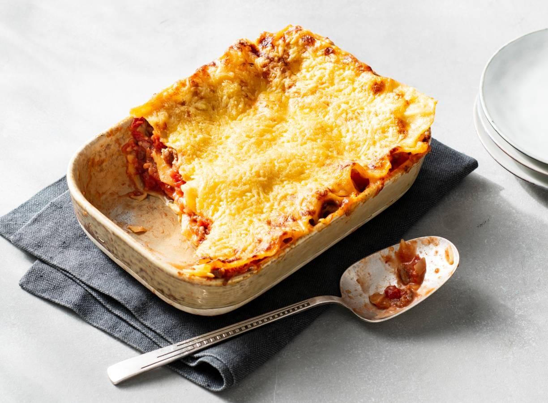 Lasagne met tomaten-gehaktsaus