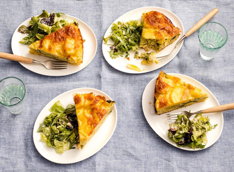 Broccoli-aardappeltaart