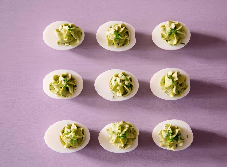Groene gevulde eieren