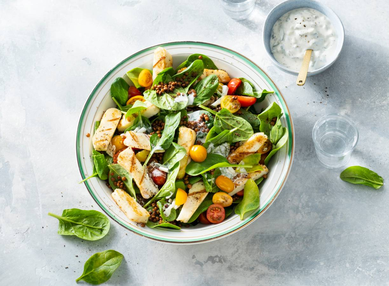 Halloumi-salade