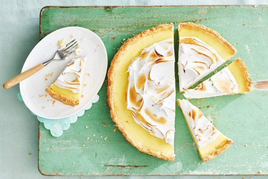 Vegan citroentaart met meringue