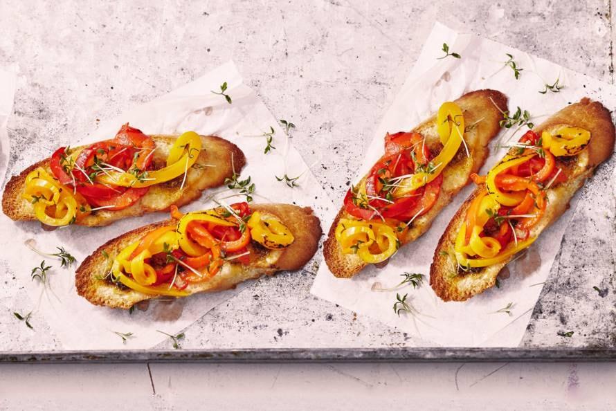 Bruschette met paprika en ansjovis