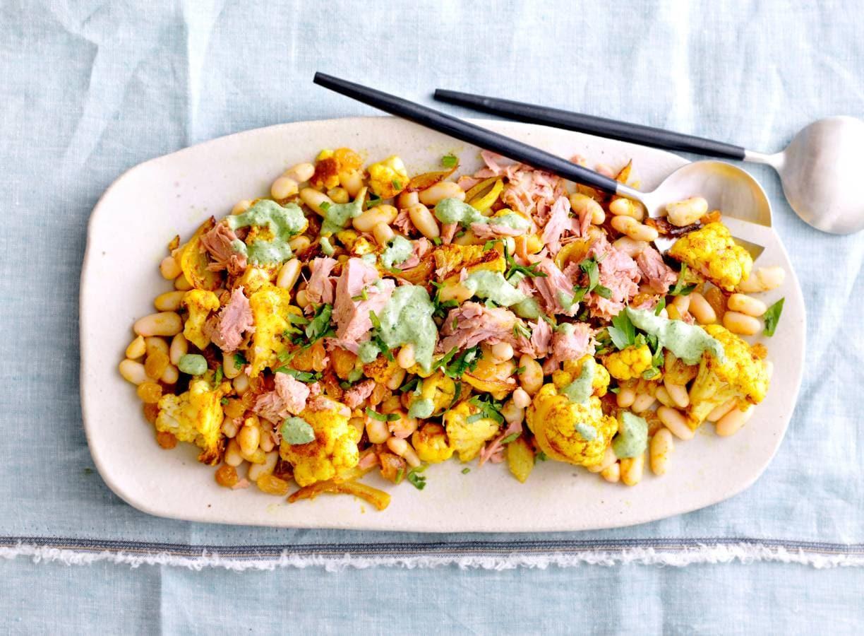 Geroosterde-bloemkoolsalade met tonijn