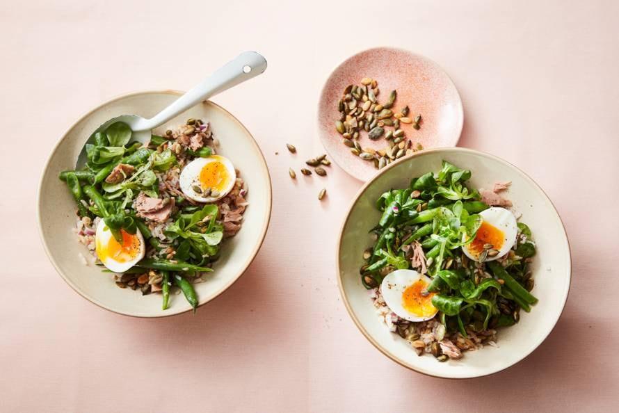 Maaltijdsalade met tonijn & sperziebonen