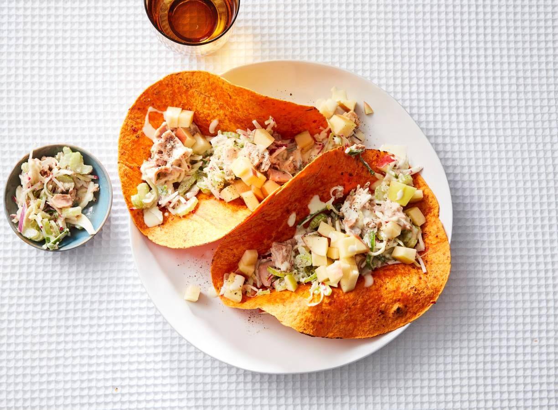 Paprikawraps met  tonijnsalade & appel