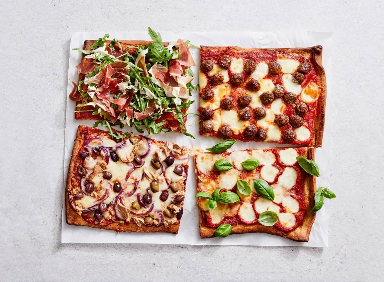 Plaatpizza voor de hele familie