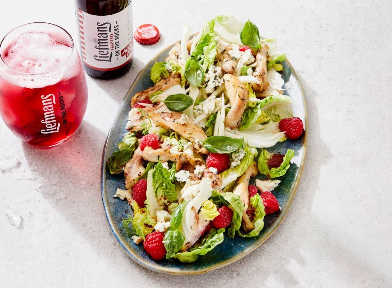 Salade met kip & fruitbierdressing