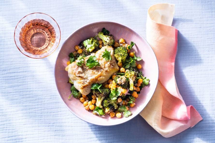 Geroosterde broccoli met kabeljauw