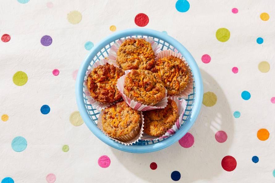 Gezonde carrotcake muffins