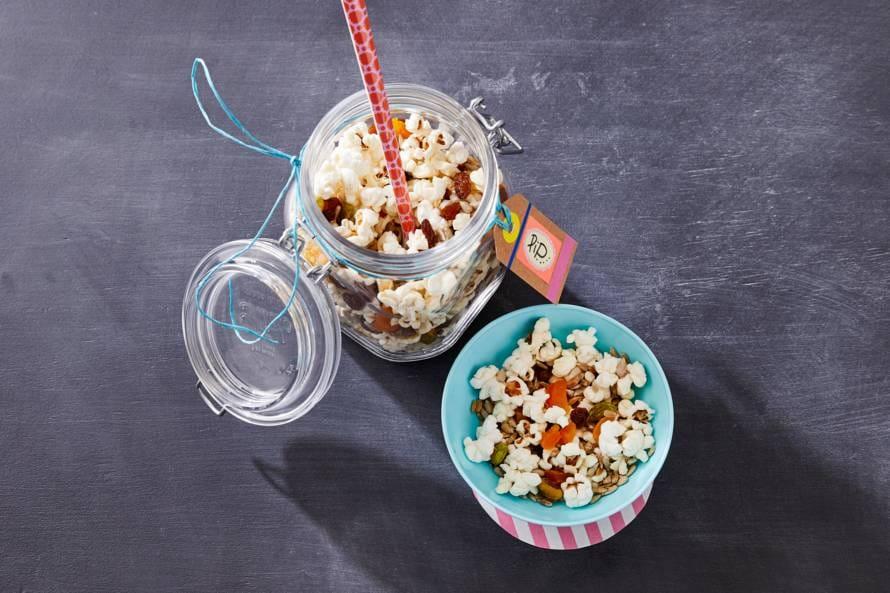 Gezonde popcorn-mix
