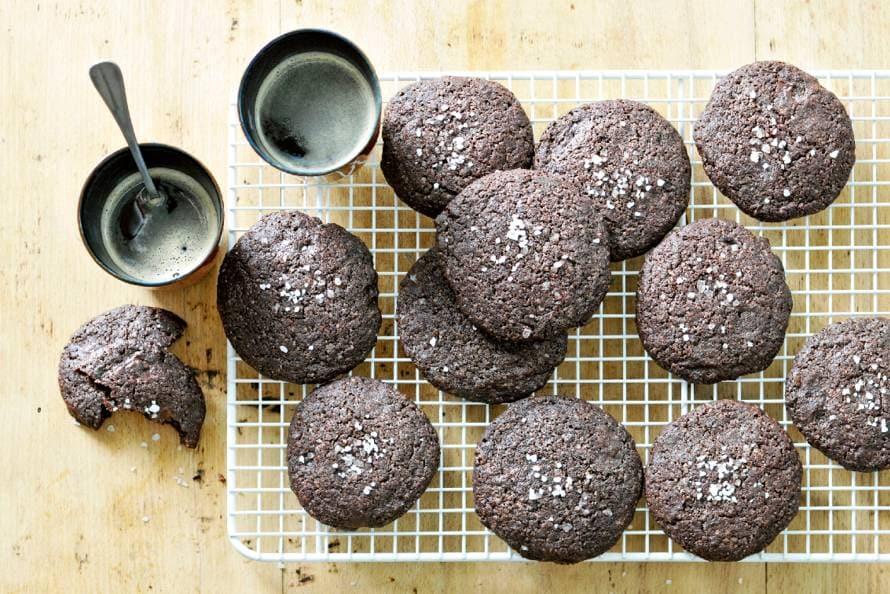 Chocolate chip cookies met zeezout