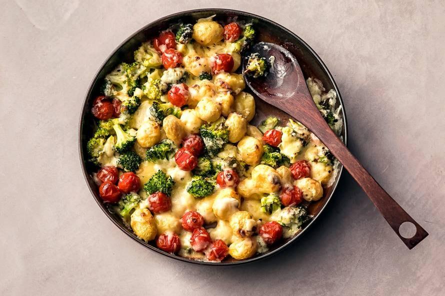 Ovenschotel met krieltjes en broccoli