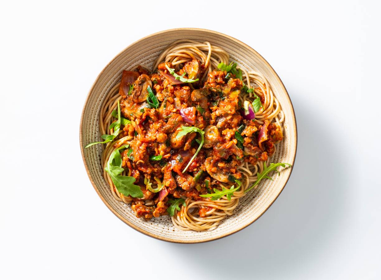 Spaghetti bolognese met vegetarisch Gehackt