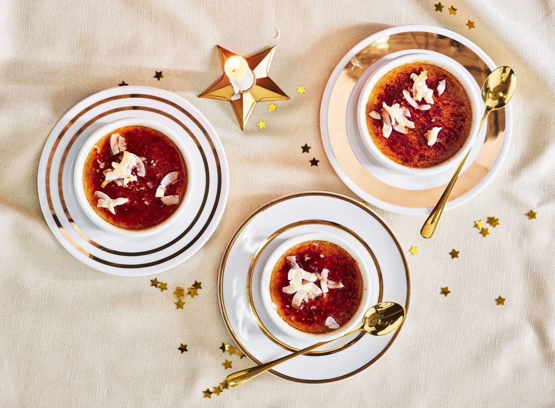 Crème brûlée van kokos