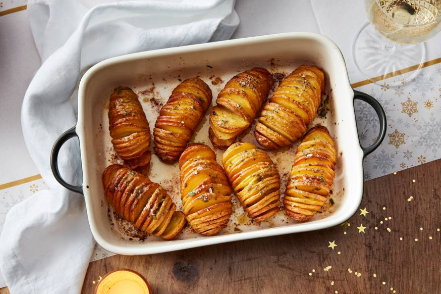 Hasselback-aardappelen met kruidenboter