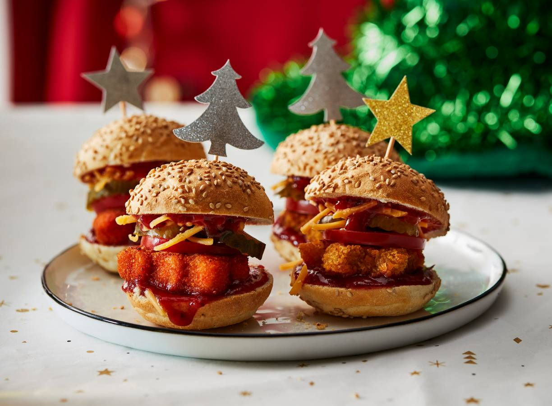 Kerst-burger met cranberry-ketchup