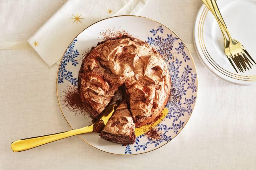 Meringue-chocolade-cheesecake