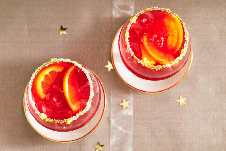 Mocktail met cranberry en gingerbeer