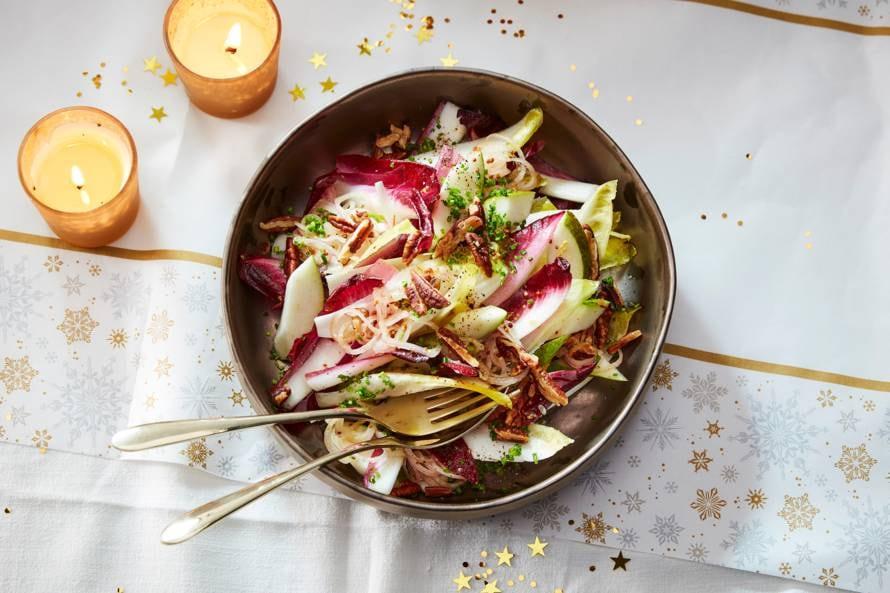 Salade met witlof en roodlof
