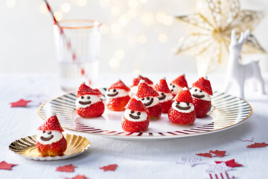 Kerstmannetjes van aardbei