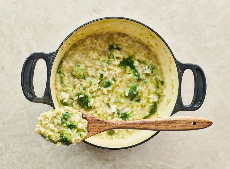 Romige risotto met broccoli