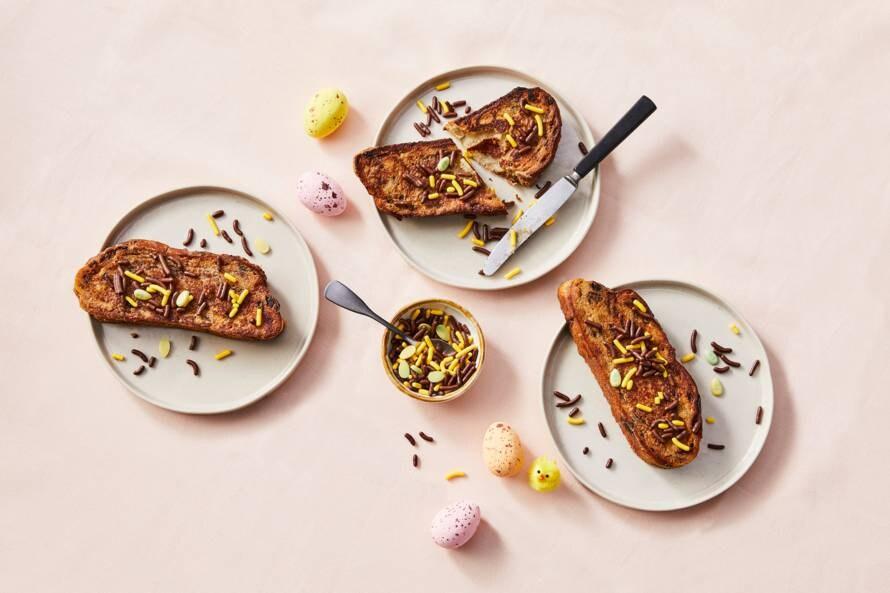 Wentelteefjes van paasbrood