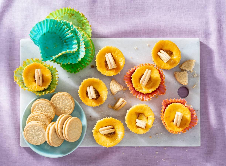 Mini-cheesecakes met lemoncurd