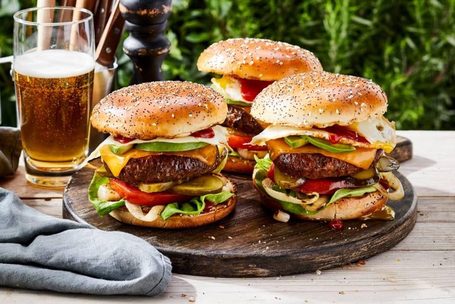 Ultieme cheeseburger van de bbq