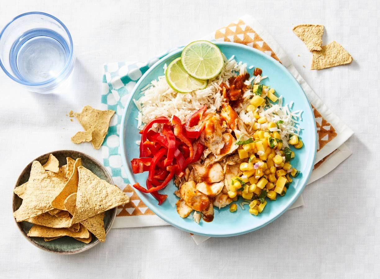 Rijst met kabeljauw en chipotlesaus (advertorial)