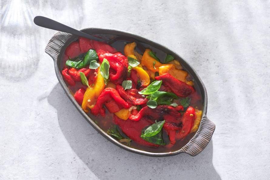 Paprika's van de barbecue