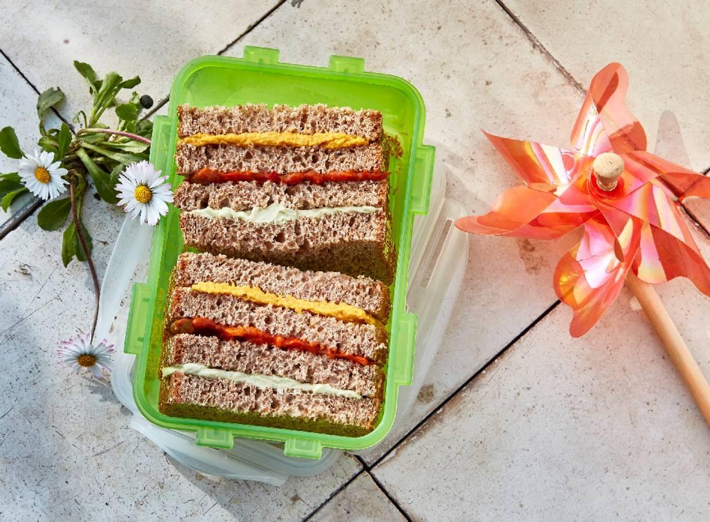 Regenboog-sandwich
