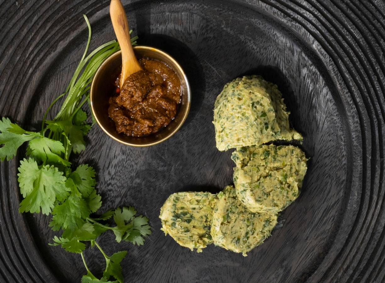 Curryboter met koriander
