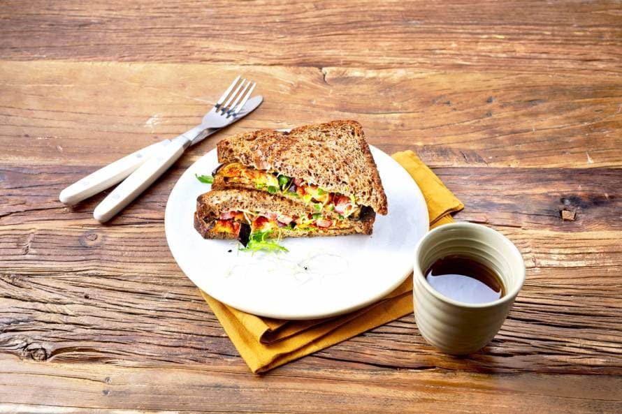 Koolhydraatarme sandwich